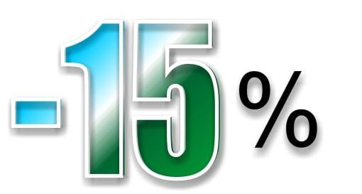 -15% en todos los artículos, a partir de 15 euros de compra, menos en las pulseras de las profesiones, hasta el 30 de Septiembre de 2019