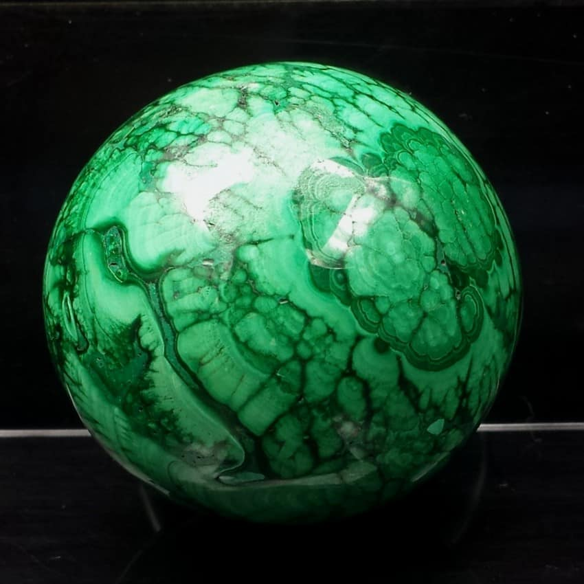 Esfera de malaquita