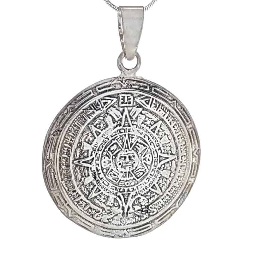 Colgante Calendario Azteca, piedra del Sol