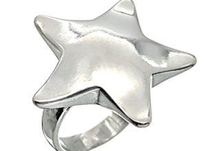 Anillo estrella de cinco puntas en plata 925