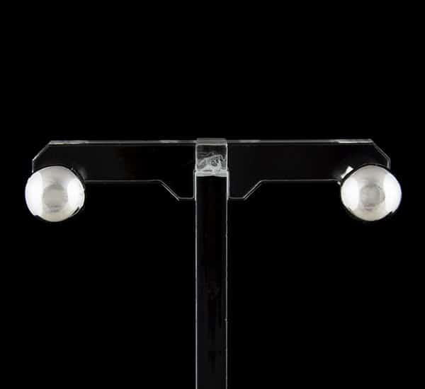 Pendientes en Plata de Ley 925 mls – Bola 10 mm