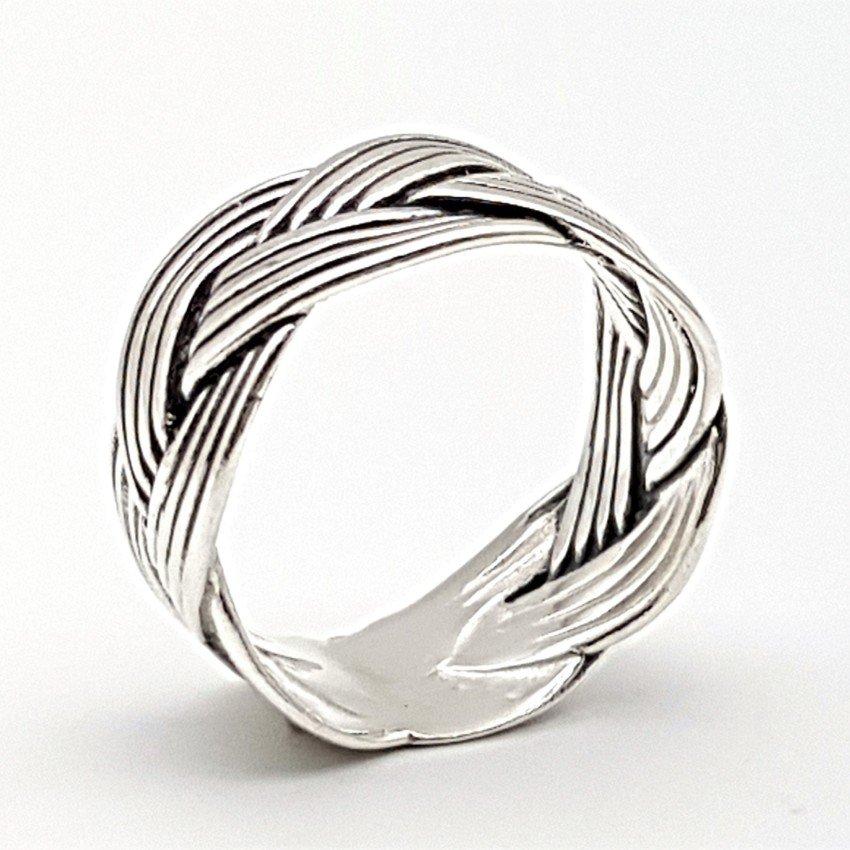 Anillo de plata, hilo trenzado (3)