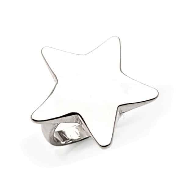 Anillo estrella de plata