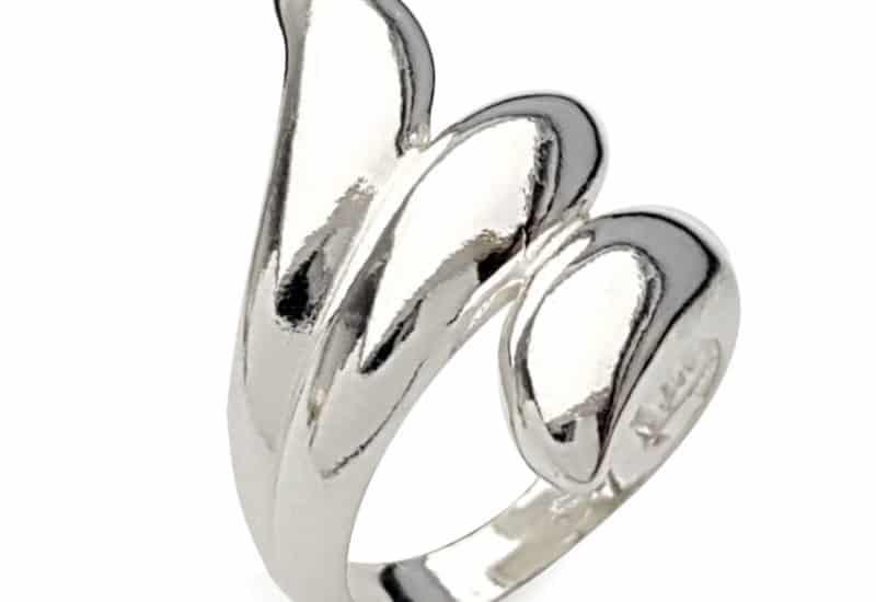 Anillo diseño en zig-zag en plata 925