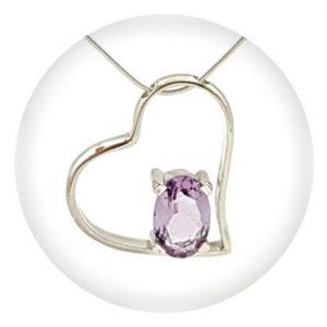 Categoría, joyas de plata 925 con forma de corazón, con y sin piedras naturales