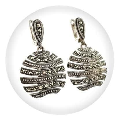 Categoría joyas con efecto envejecido de plata con marquesitas