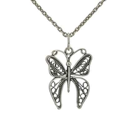 Colgante mariposa en plata 925 (2)
