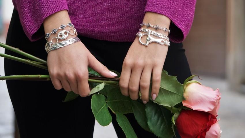 Un San Valentín con las más bellas pulseras de plata