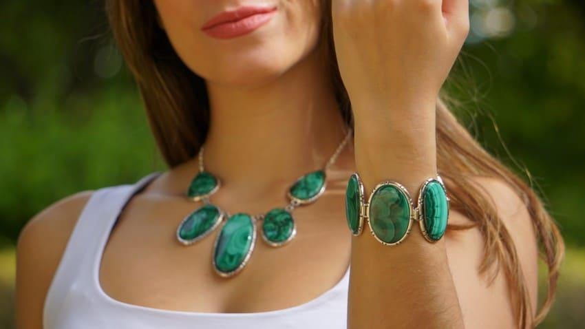 Novedades en joyas de malaquita en plata