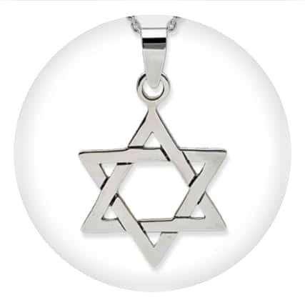 Estrella de David en plata