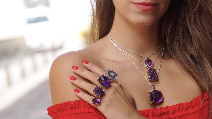 Nuevas joyas de cuarzo amatista