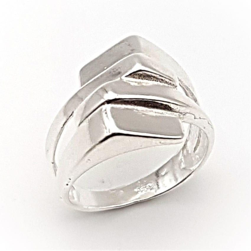 anillo liso de plata (2)