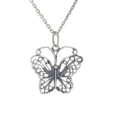 colgante mariposa de plata 925