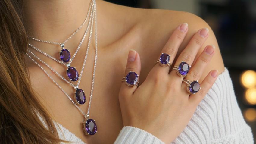 Nuevas joyas de cuarzo amatista Top Selección