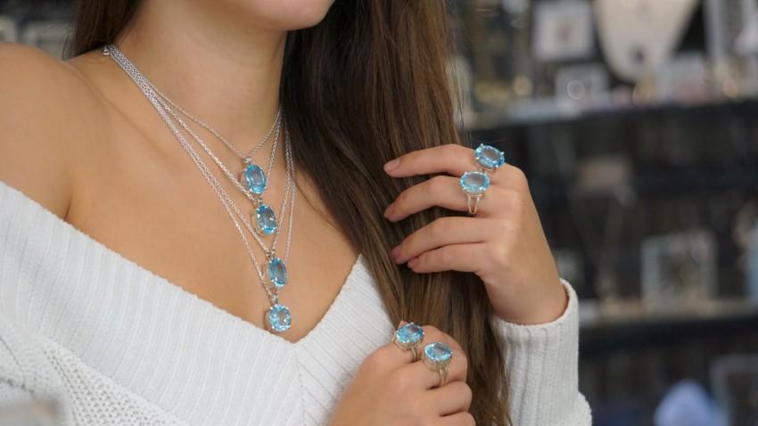 Joyas de topacio azul