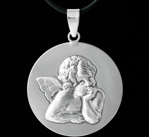 Colgante en Plata de Ley 925 mls – Medalla Angelito