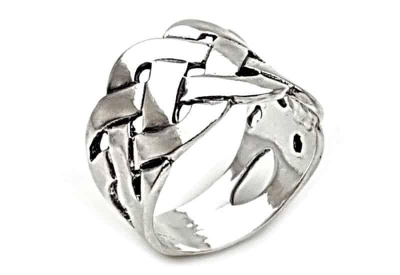 Anillo trenzado diseño celta en plata  925