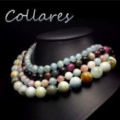 collares de nudos de hilos de piedras naturales