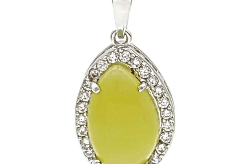 Colgante de jade y plata