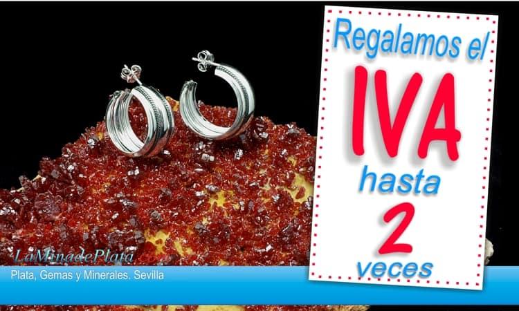 Regalamos el IVA en cientos de artículos de nuestra tienda y hasta dos veces el IVA en una selección de cientos de joyas de plata y piedras naturales.