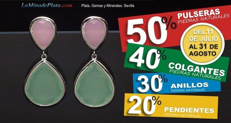 -50%,-40%,-30%,-20% en pulseras, colgantes, anillos y pendientes de piedras naturales