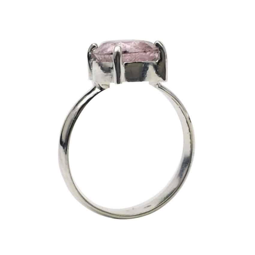 Anillo de plata y turmalina rosa