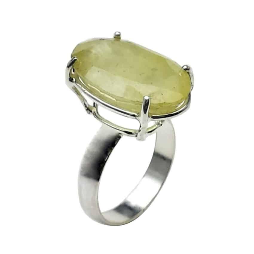 Anillo turmalina verde de forma oval en plata (1)
