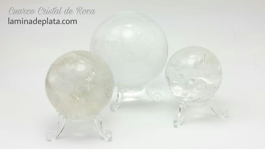 Esferas de Cuarzo Blanco, Cristal de Roca