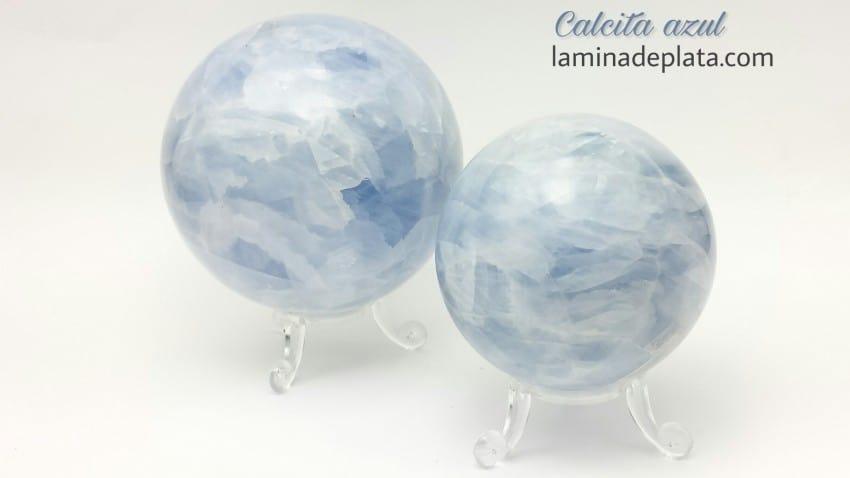 Esferas de Calcita azul