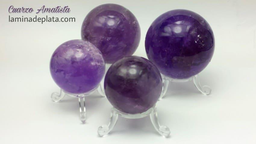 Esferas de Cuarzo Amatista procedente de Brasil