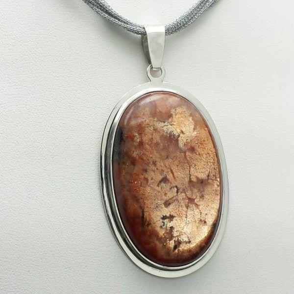 Colgante Piedra Sol en plata