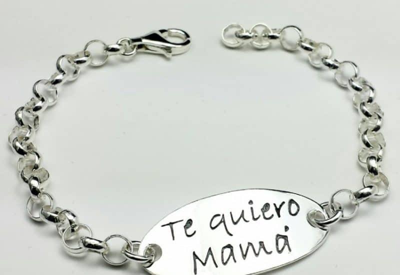 Pulsera Te Quiero Mamá fabricada en Plata