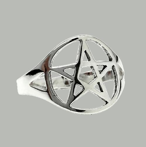 Anillo Estrella pentagrama en plata 925
