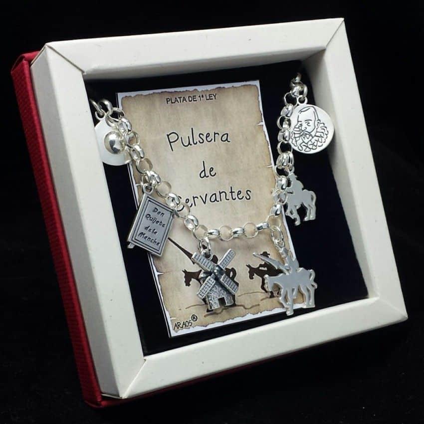 Pulsera de Cervantes en plata.