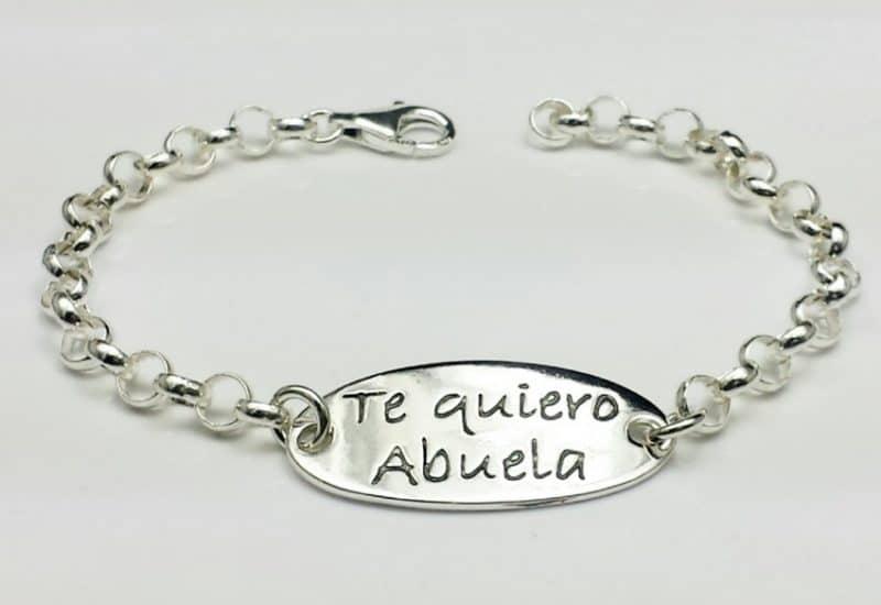 Pulsera Te Quiero Abuela fabricada en Plata