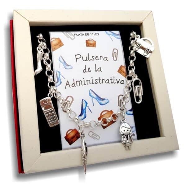 Pulsera de la administrativa - secretaria en plata