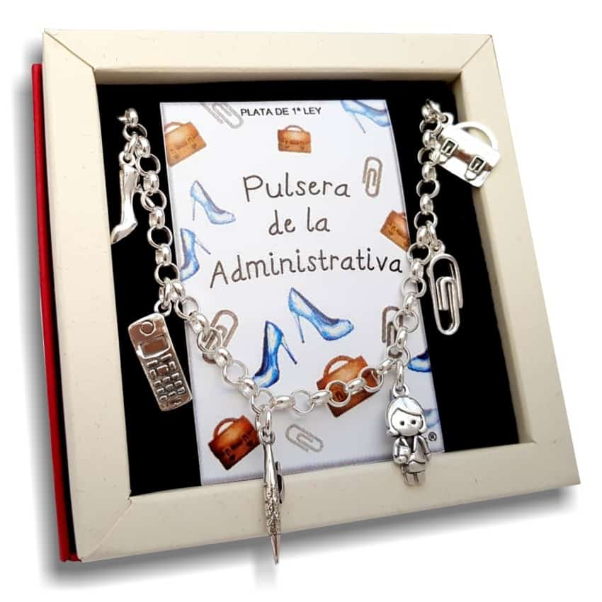 pulsera administrativa en plata