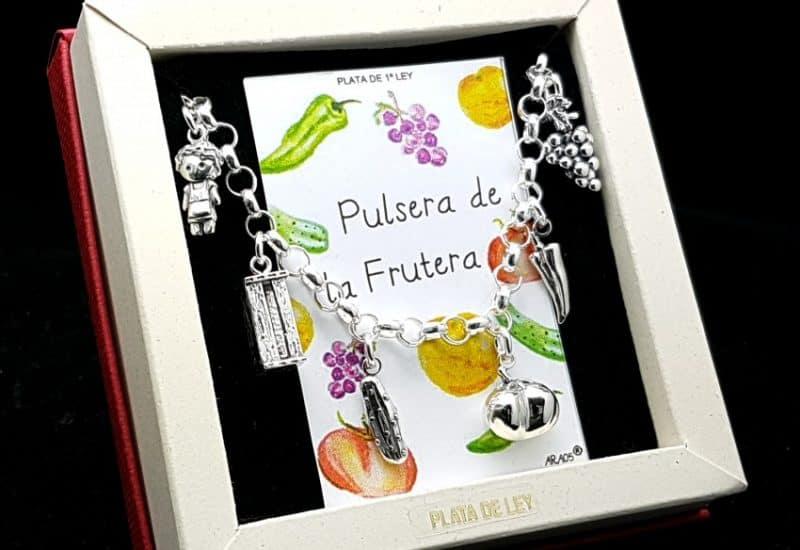 Pulsera de la frutera fabricada en plata