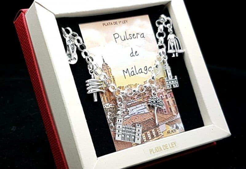 Pulsera de Málaga en plata