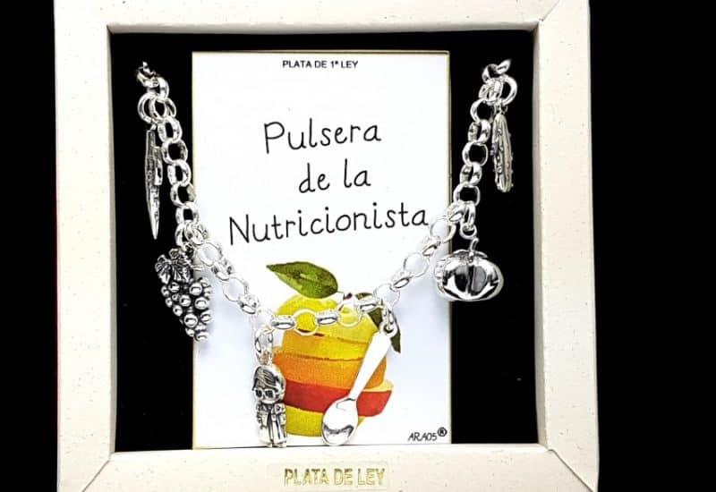Pulsera de la nutricionista fabricada en plata