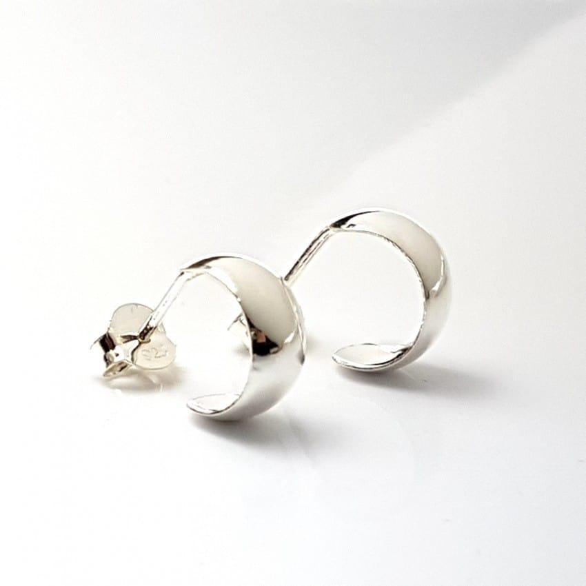 Argollas pequeñas en plata