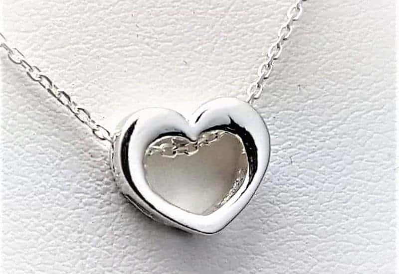 Colgante corazón en Plata de Ley 925 mls