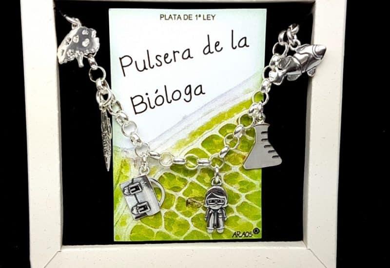 Pulsera de la bióloga fabricada en plata