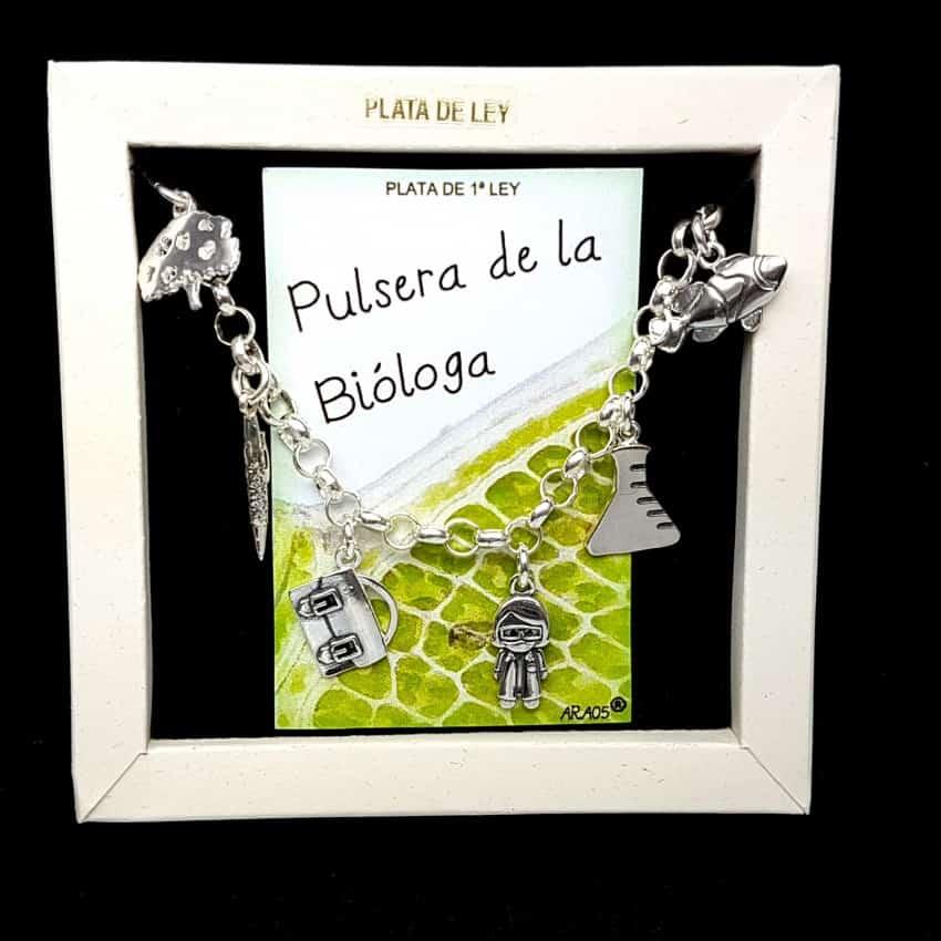 Pulsera de la bióloga en plata