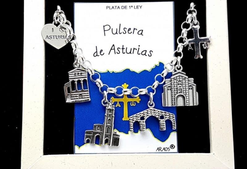 Pulsera de Asturias fabricada en plata