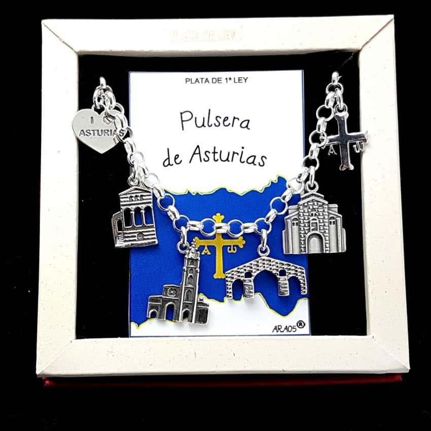 Pulsera de Asturias en plata