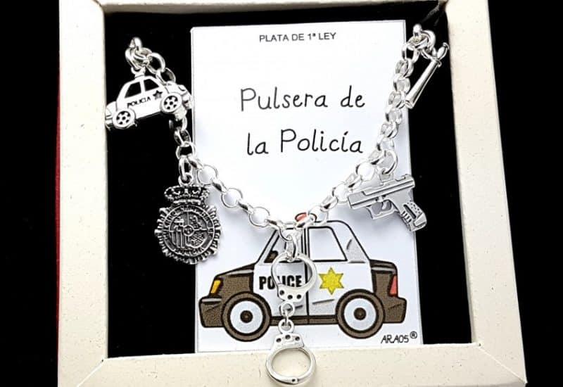 Pulsera de la policía fabricada en plata