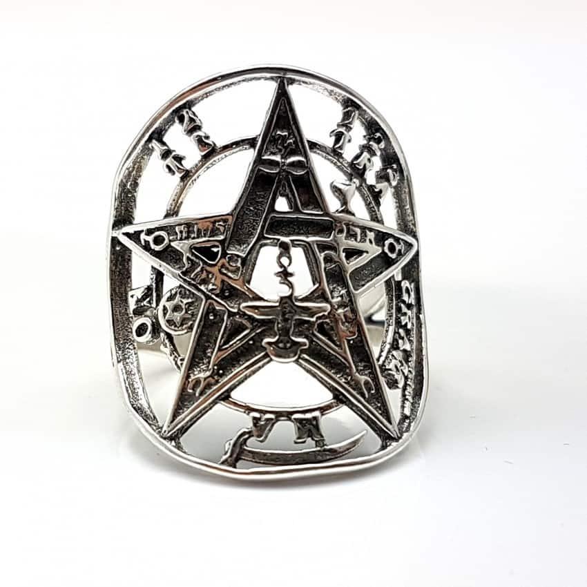 Anillo tetragrammaton en plata