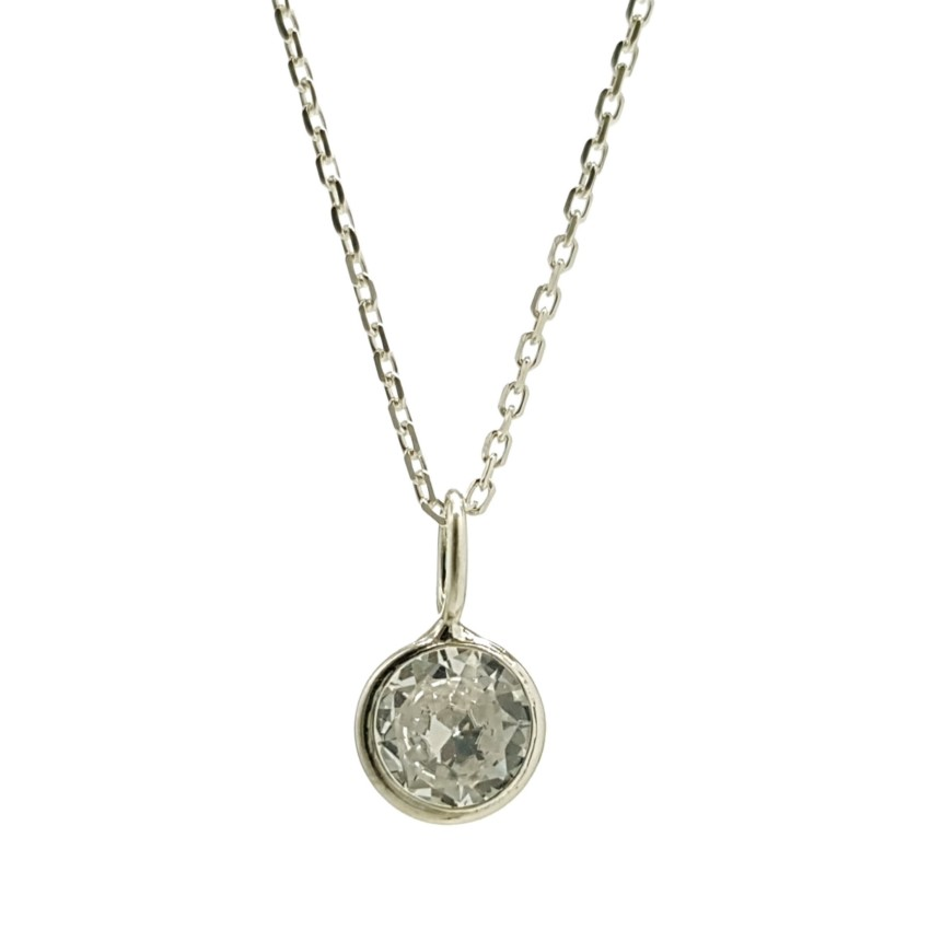 gargantilla mini circonita en plata 925