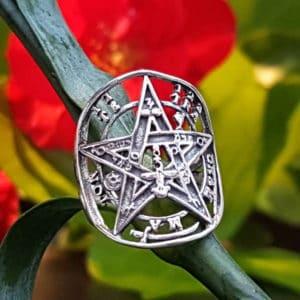 Anillo tetragramatón en plata